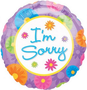 I''m Sorry 18 Mylar in Chicago IL, Yera's Lake View Florist