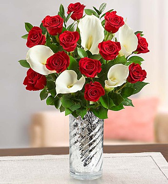 Stunning Red Rose & Calla Lily in Round Rock TX, Heart & Home Flowers