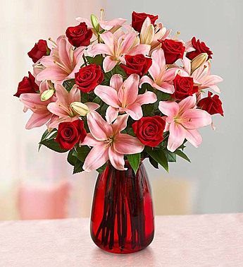 Romantic Rose & Lily in Round Rock TX, Heart & Home Flowers