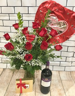 Romantic Reds Package in Gahanna OH, Rees Flowers & Gifts, Inc.