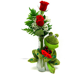 VF132 Kiss Me  Frog Bud Vase in Oklahoma City OK, Array of Flowers & Gifts