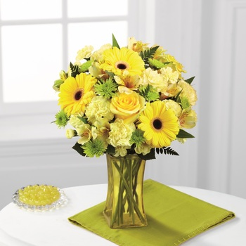 The Lemon Groove Bouquet in Chicago IL, Yera's Lake View Florist