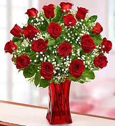 Blooming love Premium Red Roses in vase  in Silver Spring MD, Colesville Floral Design