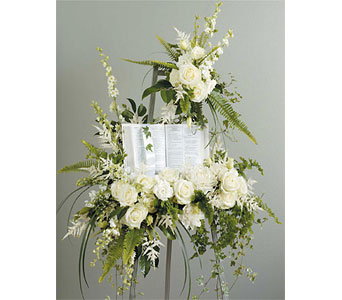 Bible Standing Spray in Wake Forest NC, Wake Forest Florist