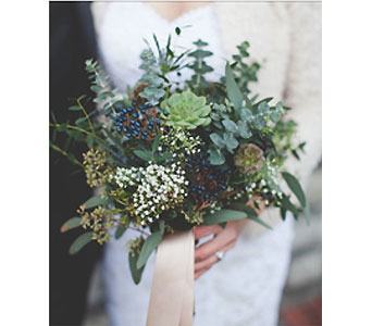 Woodsy Bridal Bouquet in Wake Forest NC, Wake Forest Florist