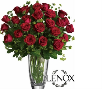 Lenox 2 Dozen Roses in Hollywood FL, Al's Florist & Gifts