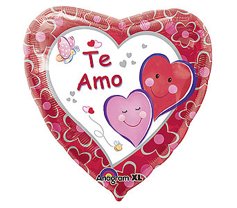 BB178 ''Jumbo Te Amo Spanish Mylar'' in Oklahoma City OK, Array of Flowers & Gifts