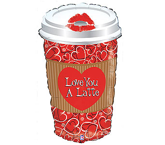 BB177 ''Love You Latte Jumbo Mylar'' in Oklahoma City OK, Array of Flowers & Gifts