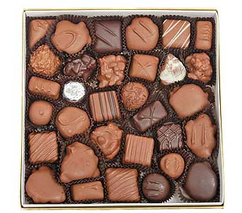 Assorted Milk and Dark Chocolates,1 lb Box in Madison WI, Felly's Flowers