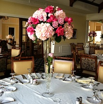 Trumpet Vase With Pink Roses and Hydrangea in Stuart FL, Harbour Bay Florist
