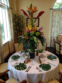 Tropical Centerpiece in Stuart FL, Harbour Bay Florist