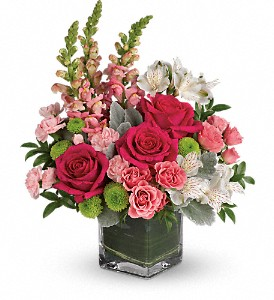 Teleflora's Garden Girl Bouquet in Peterborough ON, Rambling Rose Flowers