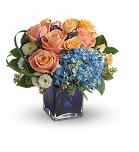 Teleflora's Modern Blush Bouquet in The Woodlands TX, Rainforest Flowers
