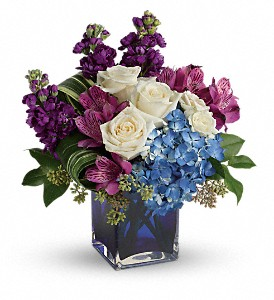 Teleflora's Portrait In Purple Bouquet in Covington LA, Margie's Cottage Florist