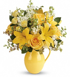 Teleflora's Sunny Outlook Bouquet in Lewiston ME, Val's Flower Boutique, Inc.