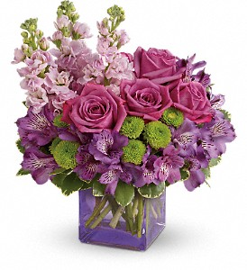 Teleflora's Sweet Sachet Bouquet in Cheyenne WY, The Prairie Rose