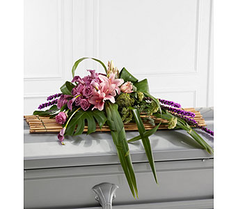 The Affection Casket Spray in Clearwater FL, Hassell Florist