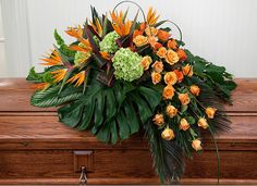 Tropical Casket Spray in Clearwater FL, Hassell Florist