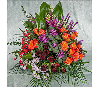 Colorful Funeral Basket in Great Neck NY, United Floral