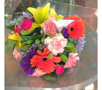 Designer Package of Stemmed Flowers in Hales Corners WI, Barb's Green House Florist