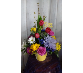 Happy Easter Bouquet/Bouquet Joyeuse P�ques in Grand-Sault/Grand Falls NB, Centre Floral de Grand-Sault Ltee