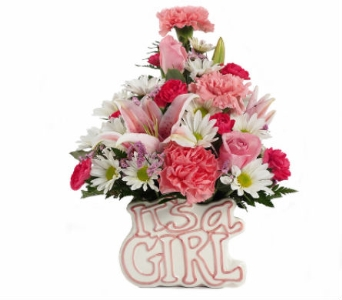 It's A Girl Keepsake Bouquet in Southfield MI, Thrifty Florist