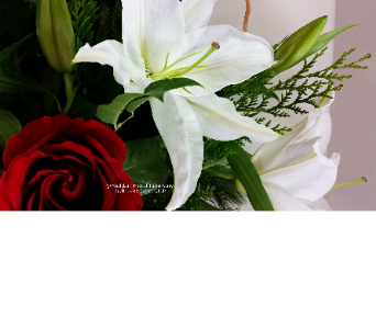 Lilies and roses bloom at Huddart Floral in Salt Lake City UT, Huddart Floral