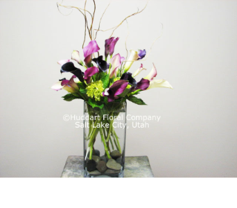 Huddart Calla Lilies and River Rocks Bouquet in Salt Lake City UT, Huddart Floral