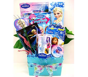 KGB42 ''Disney''s Frozen Fun'' Gift Basket in Oklahoma City OK, Array of Flowers & Gifts