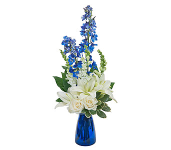 Blue Vibrations in Spartanburg SC, A-Arrangement Florist
