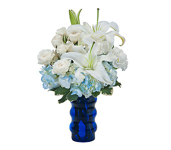 Groovy in Blue in Abington MA, The Hutcheon's Flower Co, Inc.