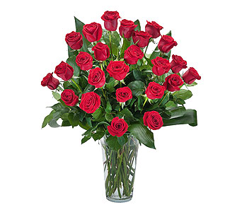 Grand Roses - 2 Dozen Roses in Chesterton IN, The Flower Cart, Inc