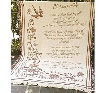 Mother So Thankful Throw Blanket in Ambridge PA, Heritage Floral Shoppe