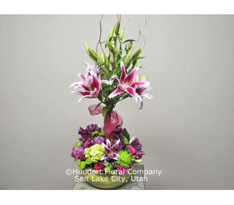 Huddart Stargazer Lily Topiary in Salt Lake City UT, Huddart Floral