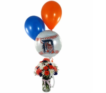 Tiger's Beer Stein & Balloon Bouquet in Southfield MI, Thrifty Florist