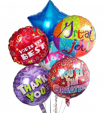 Thank You Balloon Bouquet in Camp Hill and Harrisburg PA, Pealers Flowers