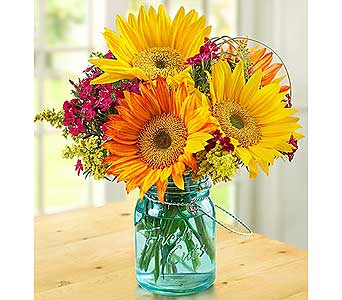 Rustic Sunflowers in Fredericksburg VA, Finishing Touch Florist