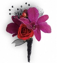 Celebrity Style Boutonniere in Perrysburg & Toledo OH  OH, Ken's Flower Shops