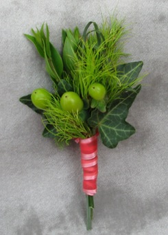 Just Green Boutonniere in Crystal Lake IL, Countryside Flower Shop
