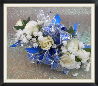 White Roses Corsage in Tyler TX, The Flower Box