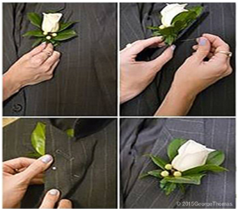 How To Pin On A Boutonniere in Indianapolis IN, George Thomas Florist
