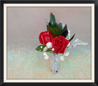 Red Rose Boutonniere in Tyler TX, The Flower Box