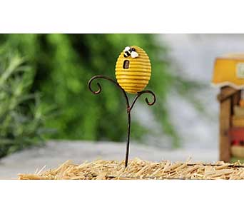 Mini World Garden Country Beehive Stake in Guelph ON, Patti's Flower Boutique