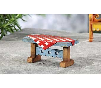 Mini World Garden Country Picnic Table Decor in Guelph ON, Patti's Flower Boutique