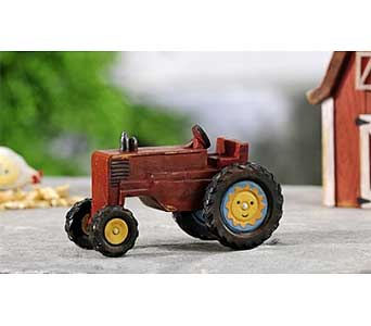 Mini World Garden Country Red Tractor Decor in Guelph ON, Patti's Flower Boutique
