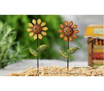 Mini World Garden Country Sunflower Stake in Guelph ON, Patti's Flower Boutique