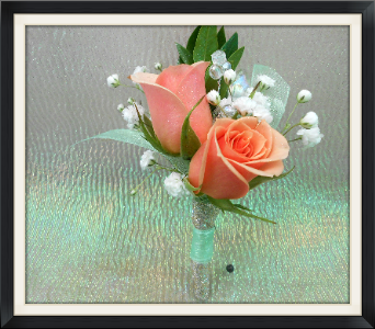 Peach Rose Boutonniere in Tyler TX, The Flower Box