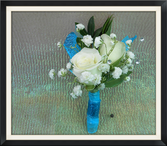 Electric Blue Boutonniere in Tyler TX, The Flower Box