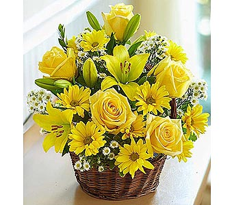 Basket of Sunshine in Palm Desert CA, Milan's Flowers & Gifts