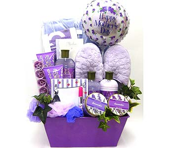 MDGB286 ''Loving Lavender'' Gift Basket in Oklahoma City OK, Array of Flowers & Gifts